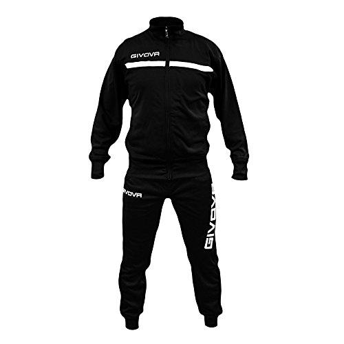 Nero Modello Uomo One Givova Tuta bianco Felpato Calcio Calcetto Tracksuit Fitness Palestra DYIWEH9e2b