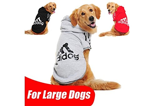 Qiao Niuniu Large Dog Clothes Pet Clothing for Large Size Dog Hoodie Shop Golden Retriever Coat Puppy Clothes 4 Colors XXXL-9XL 3=XXXL(Color: Dark Blue,Size: 6)
