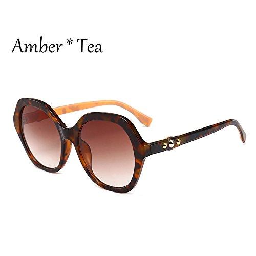 Frame sol G351 Marco C4 gafas sol Viajes Sunglasses sol mujer C2 de Vintage extragrandes de Leopard TL verde Gafas señoras tonos Gafas de tBcwa