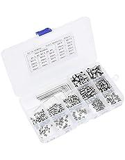 365 stuks inbussleutel inbusschroeven assortiment M3, M4, M5, M6, M8, met inbussleutel, M1,5, M2, M2,5, M3, M4, roestvrij staal, assortiment bevestigingsonderdelen