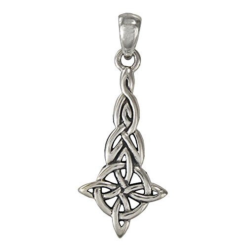 (Silver Celtic Triquetra Witches Knot Pendant for men or women)