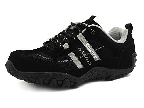 Outdoor Hiking Damen Sneaker Rutsch Wanderhalbschuhe Trekking Anti Schwarz Sports Atmungsaktiv Wanderschuhe Boots Knixmax Trekking Sohle Woman Schuhe amp; qxvYgaw