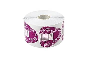 Crisnails® Moldes Guías Pegatinas Formas Para Manicura Uñas Tips Extenciones 500pcs (Pezuña Flores)