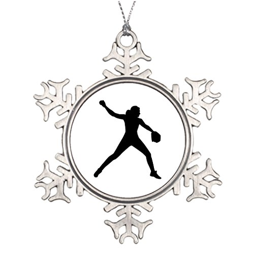Dobend Ideas For Decorating Christmas Trees Softball pitcher Turquoise Christmas Snowflake (Softball Decorating Ideas)