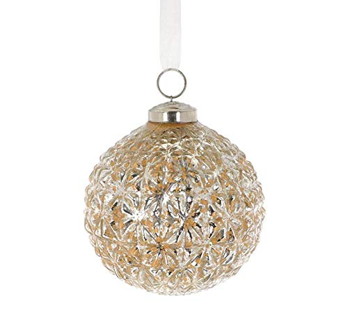 burton+BURTON Raised Starburst Pattern Glass Ornament (Set of 10)