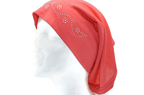 Jeweled Cotton Blend Inner Hijab Tube Cap (Magenta)