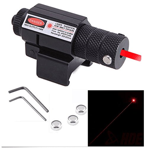 Laser Beam Gun - KingFurt Tactical Red Laser Beam Dot Sight Scope Hunting Gun Rifle Pistol handgun 20mm Mount Button