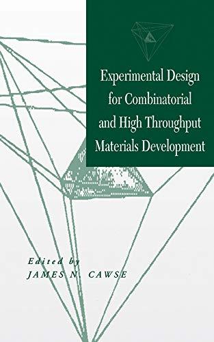 - Experimental Design for Combinatorial and High Throughput Materials Development