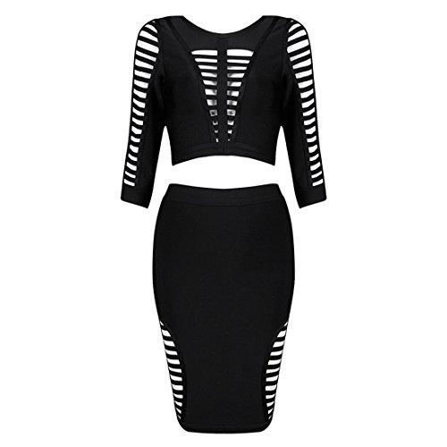 HLBCBG - Vestido - Sin mangas - para mujer negro