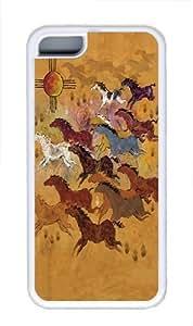 Horses SunTPU Case Cover for iPhone 5C White