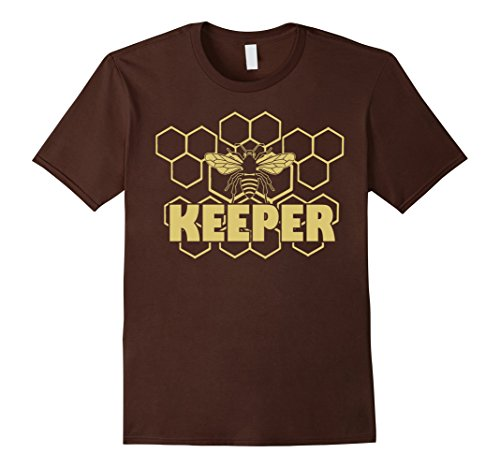 Mens Keeper Tshirt For Hive Keepers - Funny Beekeeper Gift Tee 2XL Brown
