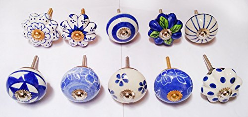 10 Hand Painted Ceramic - 6