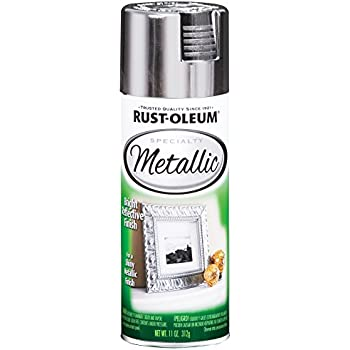 Rust-Oleum 1915830 - 6 PK Specialty Metallic 1915830 Spray Paint 11 Oz, Silver, 6 Pack