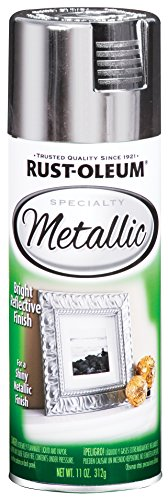 (Rust-Oleum 1915830-6 PK Specialty Metallic 1915830 Spray Paint 11 oz, Silver, 6-Pack, )