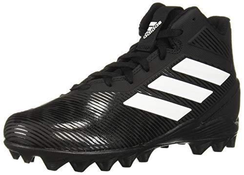 adidas Unisex-Kid's Freak Mid MD Football Shoe, Black/White/Black, 4 M US Big Kid
