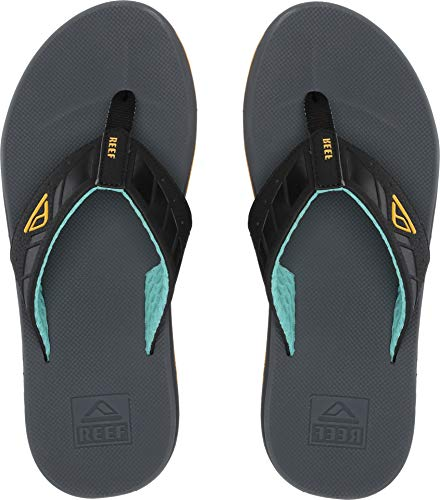 Reef Men's Phantoms Sandal, Aqua/Yellow, 140 M US