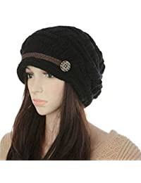 Mraw Women Knit Snow Hat Winter Snowboarding Beanie Crochet Cap