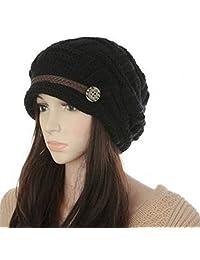Mraw Women Knit Snow Hat Winter Snowboarding Beanie Crochet Cap