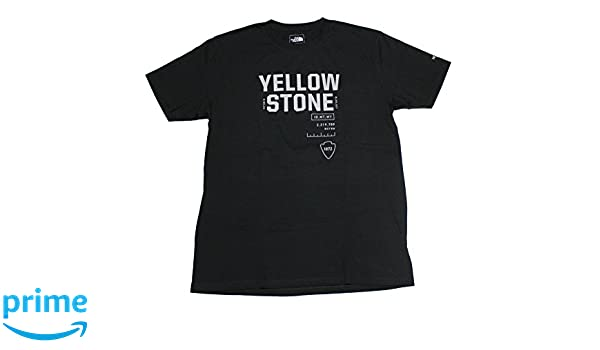 e71f372d1 Amazon.com: The North Face Men's Yellowstone National Park Tee (Black)  (Medium): Sports & Outdoors