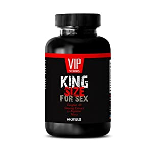 Sexual pleasure for men - King SIZE For SEX - Tribulus, Catuaba, Cayenne, Tongkat Ali, Nettle, Cayenne, Muira Puama - 1 Bottle 60 Capsules
