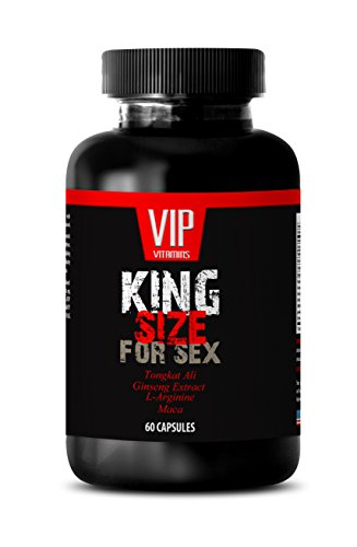 Natural testosterone booster for men best seller - KING SIZE FOR SEX - Tongkat ali maca l arginine - 1 Bottle 60 Capsules by VIP VITAMINS