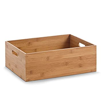 Displaysense Small Bamboo Finish Wooden Storage Box Display Crate  sc 1 st  Amazon UK & Displaysense Small Bamboo Finish Wooden Storage Box Display Crate ... Aboutintivar.Com