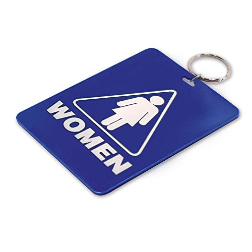 Lucky Line Women S Restroom Pass Key Tag Plastic With Split Key Ring Keychain Identifier For Restaurant Office Gas Station 1 Per Pack 53001