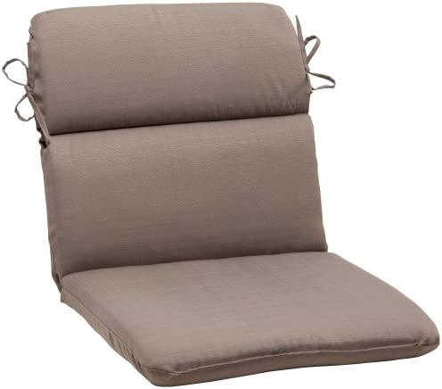 Pillow Perfect Outdoor Forsyth Rounded Chair Cushion, Taupe