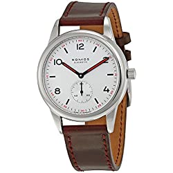 Nomos Club AutomatWhite Dial Stainless Steel Mens Watch 753