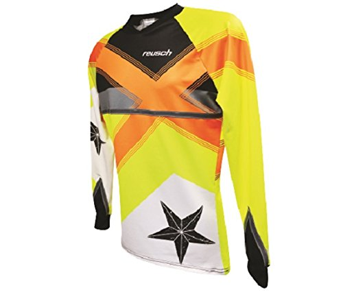 ロイシュSoccer Cross Star Pro Fit Goalkeeper Jersey B01BITDQ7Uオレンジ/イエロー Medium