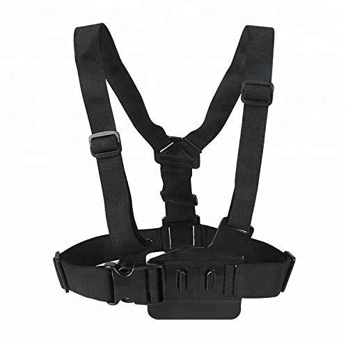 Photo Choice - GoPro Front Chest Duel Elastic Shoulder Strap Mount Harness - Action Sport Camera Accessory HERO5 Black, HERO5 Session, HERO4 Black, HERO4 Silver, HERO Session, and HEROHERO5 Black, HER