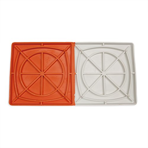 Champion Sports Orange & White Double First Base Break Away Base with Ground Anchor System