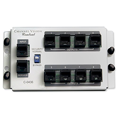 (CHANNEL VISION C-0436 4 in / 8 Out RJ45 Telecom Distribution Module)