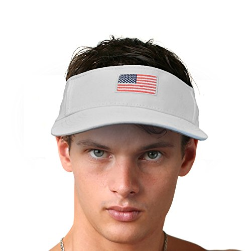 a47932299fd KC Caps Men American Flag Sports Tennis Golf Sun Visor Hat - Import It All