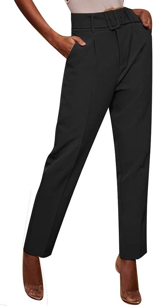 Amazon.com: Pantalones de vestir formales para mujer ...
