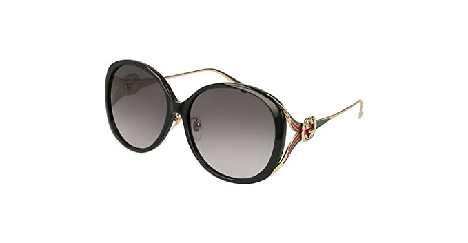 72d1f040aaa Gucci Gg 0226 Sk- 001 Black Grey Gold Sunglasses  Amazon.ca  Clothing    Accessories