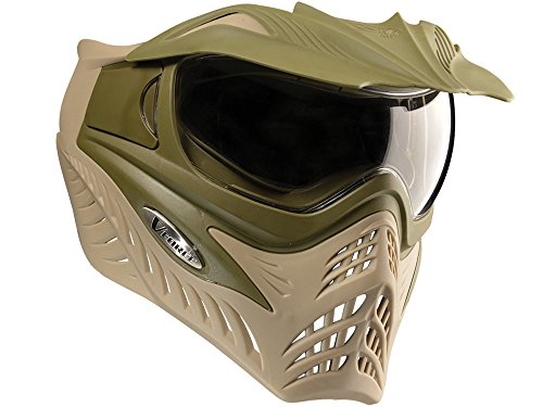 Olive Mask Paintball (G.I. SPORTZ Grill V Force Goggles, Dual Olive)