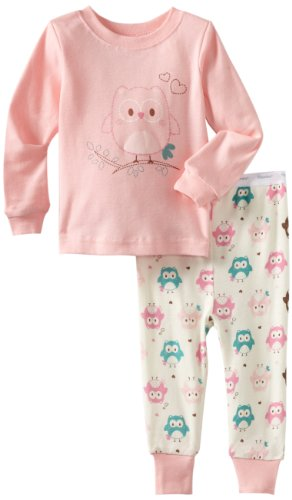 Vitamins Baby Girls' Owl 2 Piece Pajama Set