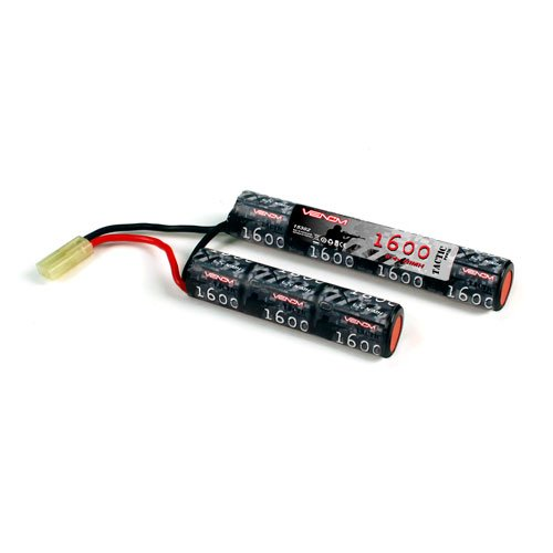 Venom 8.4v 1600mAh 7-Cell Saddle NiMH Battery for Airsoft Guns