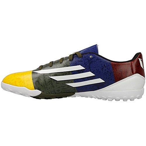 Adidas - F10 TF - M21768 - Colore: Bianco-Bordeaux-Giallo - Taglia: 46.6