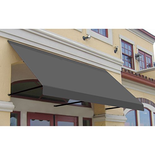 Awntech 6-Feet Dallas Retro Window/Entry Awning, 16-Inch Height by 30-Inch Diameter, Gray