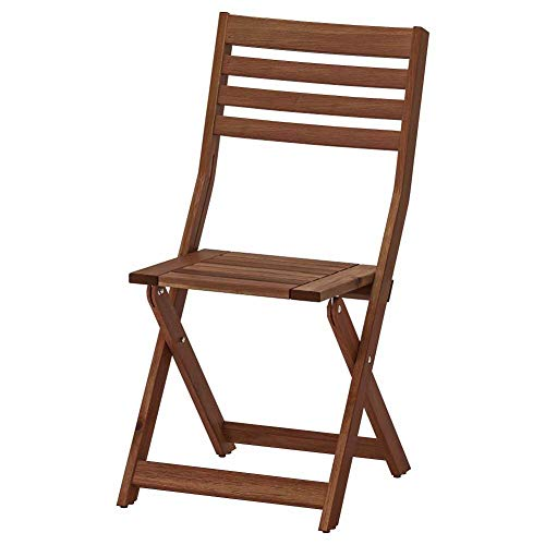 (IKEA ASIA APPLARO Chair Outdoor Foldable Brown Stained )
