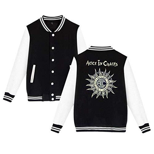 Alice in Chains Mens & Womens Funny Hoodie Baseball Uniform Jacket Sport Coat -