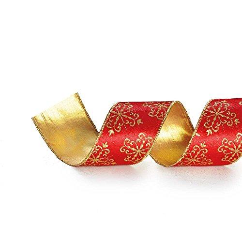 Fita De Natal Arabesco Vermelha 10Cm C/ 9,14M Vermelha