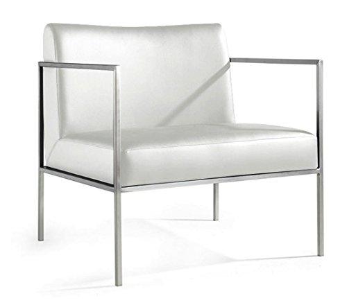 Delano Leather Chair - White - Delano Leather
