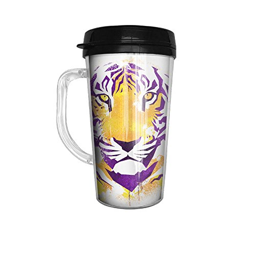 Bengal Tiger 2 Stainless Steel Coffee Cup Tumblers 16 Oz With Handle