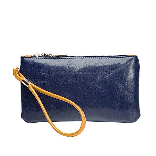 mefly el nuevo mujeres bolso Trendy Retro Mobile funda, Rose red azul marino