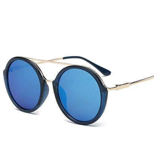 Gafas Color Reflectante De Azul Gafas Sol Mujer Sol De De Marco para Estante Simples De De Gafas azul Gran Gafas JUNHONGZHANG Metal Estante dCz5nSqd