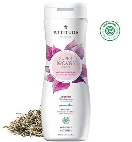ATTITUDE Super Leaves, Hypoallergenic Nourishing Body Wash, Olive Leaves, 16 Fluid Ounce