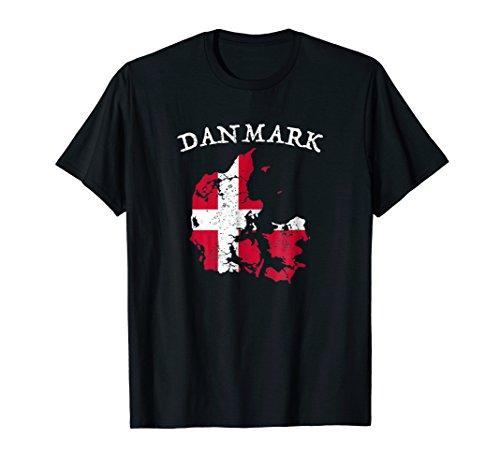Danmark Country Map Flag T-Shirt Denmark